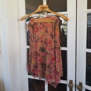 🆕️Anthropologie - Floral Asymmetrical Skirt